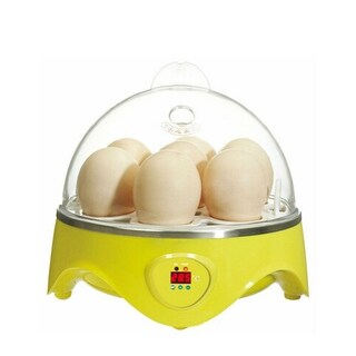 Mini Incubator 7 Egg Capacity Automatic Digital Chicken Duck Bird Hatch Tool 110V