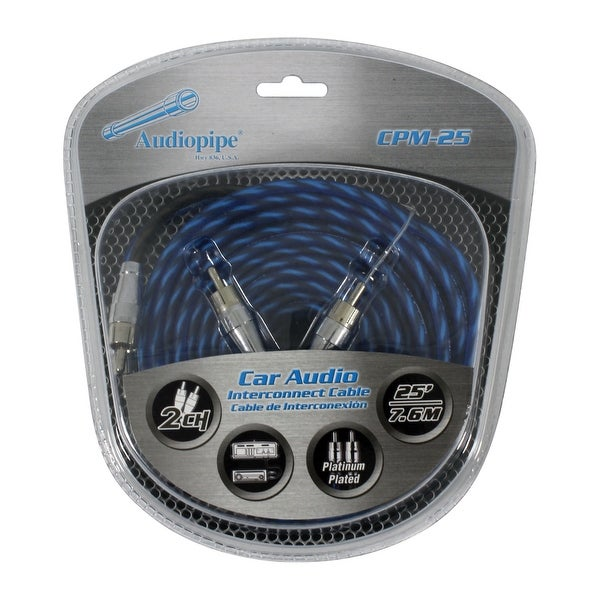 Audiopipe Platinum Plated Interconnect Cable 25ft