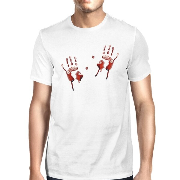 a3edb6834a Shop Bloody Handprints T-Shirt Mens White Halloween Horror Night Shirts -  On Sale - Free Shipping On Orders Over  45 - Overstock - 17744765