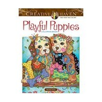 Playful Puppies Coloring Book - Dover Publications