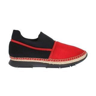 Dolce & Gabbana Dolce & Gabbana Red Black Mesh Neoprene Sneakers - eu44-us11