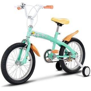 Goplus 12'' Kids Bicycle Bike Outdoor Sports With Training Wheels Bell Boys Girls Green