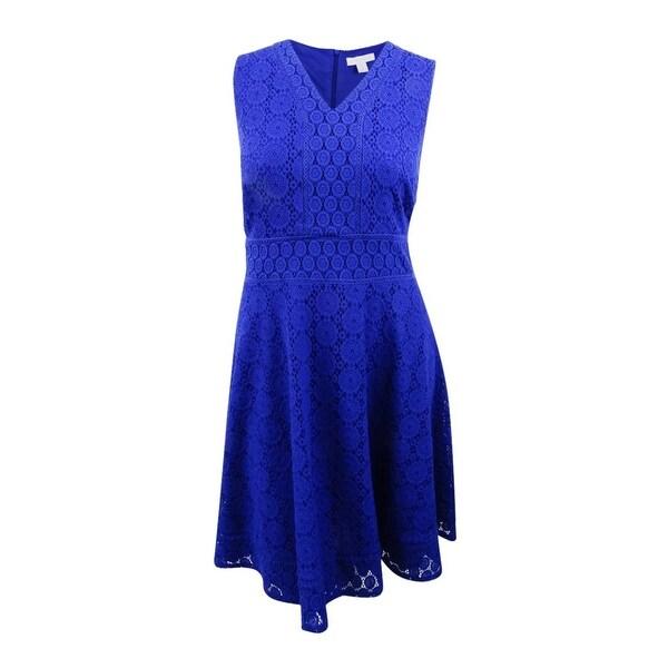 5f177df397b7b Shop Charter Club Women's Plus Size Lace Fit & Flare Dress - On Sale ...