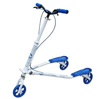 Trikke T7 Convertible Carving Scooter T7K-WTBU White with Blue Accent