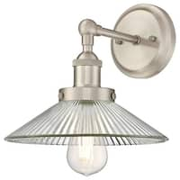 """Westinghouse 6335800 LEXINGTON Single Light 9-7/16"""" Tall Wall Sconce with Clear"""