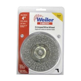 """Weiler 36415 Vortec Coarse Crimped Wire Wheel Brush, 4"""" x 1/4"""""""