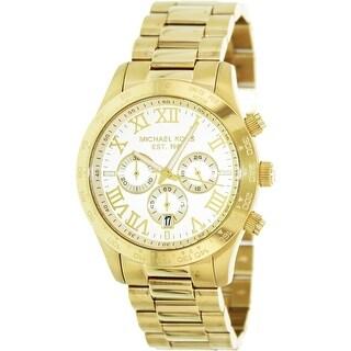 Michael Kors Men's Layton MK8214 Gold Stainless-Steel Quartz Dress Watch