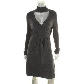 Diane Von Furstenberg Womens Janeva Sweaterdress Wool Wrap