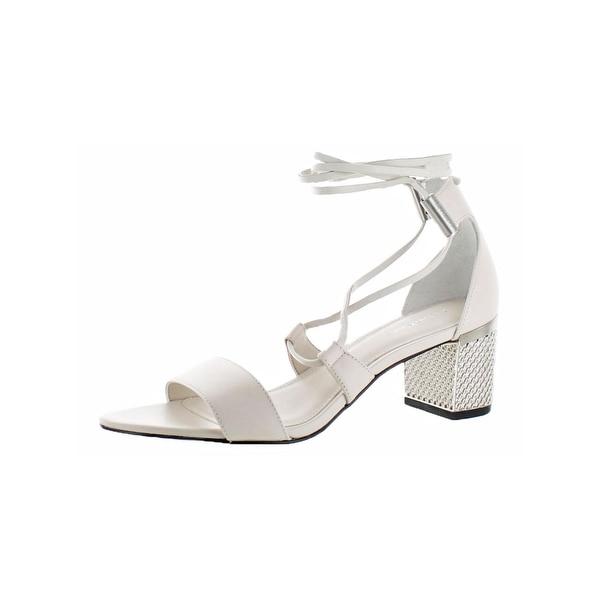 Calvin Klein Womens Natania Dress Sandals Open Toe Textured