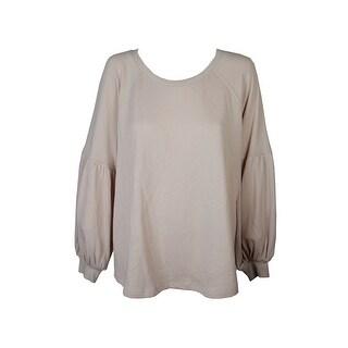 Style&Co Plus Size Blush Pink Bishop-Sleeve Raglan Sleeve Crew Neck Sweater 3X