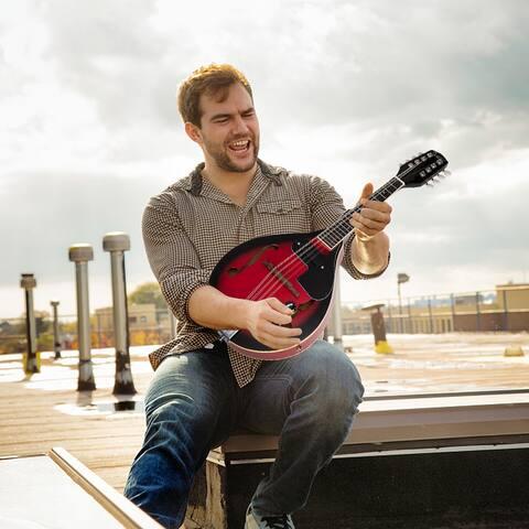 Glarry AStyle 8-String Acoustic Electric Mandolin Double-Duty Mandolin