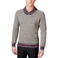 Tommy Hilfiger Mens Pullover Sweater Wool Blend Heatherd