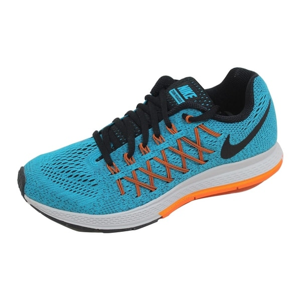 Nike Men's Air Zoom Pegasus 32 Blue Lagoon/Black-Bright Citrus-Total Orange 749340-400