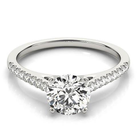 Auriya 14k Gold Round Moissanite Engagement Ring 2/3ctw