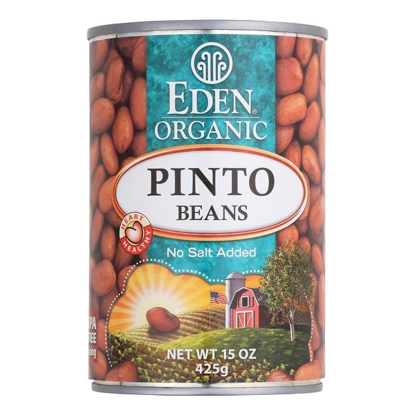 Eden Foods Organic Pinto Beans - Case of 12 - 15 oz.