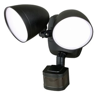 "Vaxcel Lighting T0299 Tau 2 Light 8"" Wide Integrated LED Outdoor Dual Head Flood"