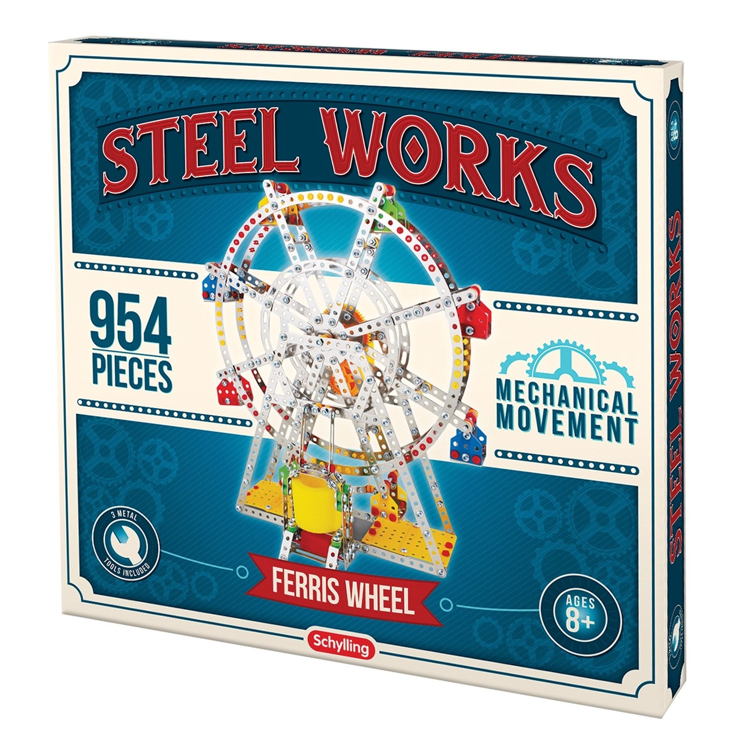 Steel Works Metal Model Ferris Wheel Fun Educational Project For Stem Kids 954 Pieces Overstock 20228407
