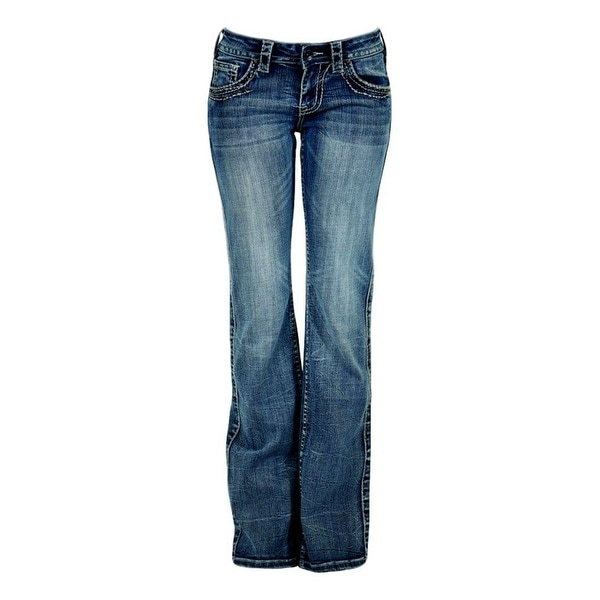 Shop Cowgirl Tuff Western Denim Jeans Women Timeless Barbed Wire Med ...