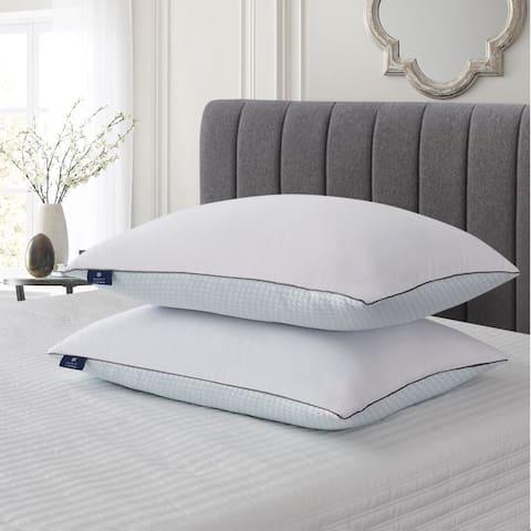 SCOTT LIVING Summer / Winter White Goose Feather Pillow (Set Of 2) - Blue
