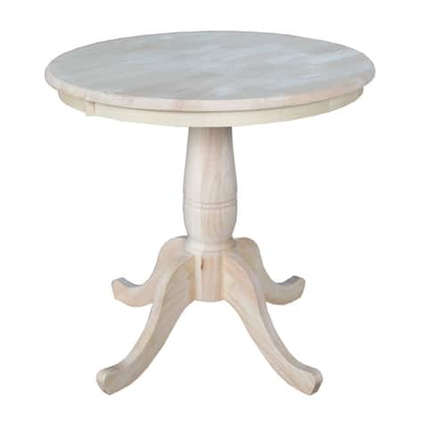 International Concepts 30-inch Round Pedestal Table