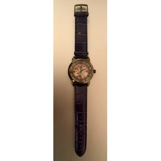 Stuhrling Original Men's Winchester 44 Skeleton Automatic Blue Leather Strap Watch