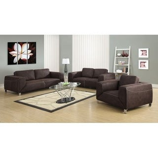 Monarch Specialties Love seat I Micro-Suede Love Seat