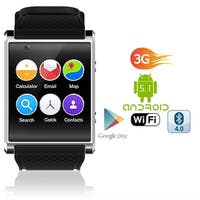 Indigi® GSM UNLOCKED! Stylish Android 5.1 Smart Watch Phone GSM 3G+WiFi GPS + Pedometer+ Temperature + Bluetooth bundle