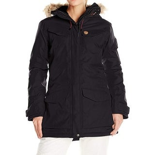 Link to Fjallraven Womens Jacket Black Size Medium M Parka Faux Fur Hooded Similar Items in Men's Outerwear