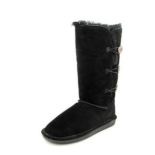 Bearpaw Lauren Women  Round Toe Suede Black Winter Boot