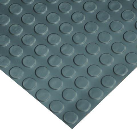 "Goodyear Coin-Pattern Rubber Flooring -- 3.5mm x 36"" x 10ft - Black - 36x120"