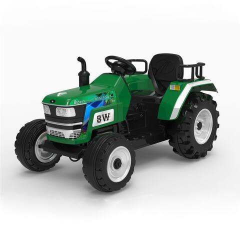 Green Big Wheeled Tractor