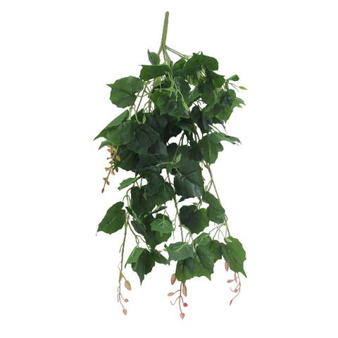 "Set of 2 Cottonwood Ivy Leaf Hanging Greenery Bush UV Resistant Indoor Outdoor 30in - 30"" L x 13"" W x 9"" DP"