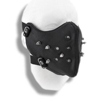 Black Vinyl Spiked Half Face Mask Facemask
