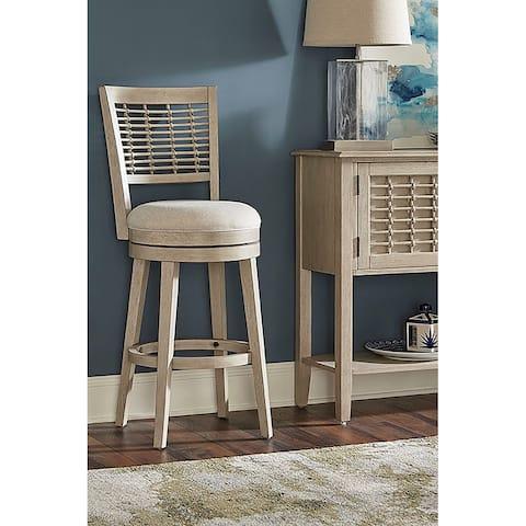 Hillsdale Furniture Ocala Wood Swivel Stool, Sandy Gray