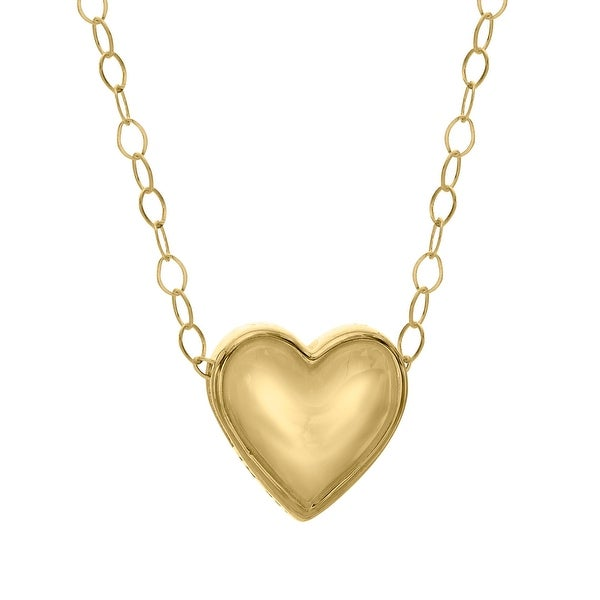 Just Gold Teeny-Tiny Heart Pendant in 10K Gold - Yellow
