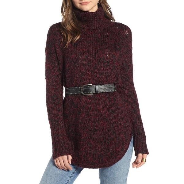 Treasure & Bond Purple Womens Size Small S Turtleneck Sweater