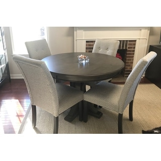 Madison Park Signature Helena Grey Round Dining Table Dia 45
