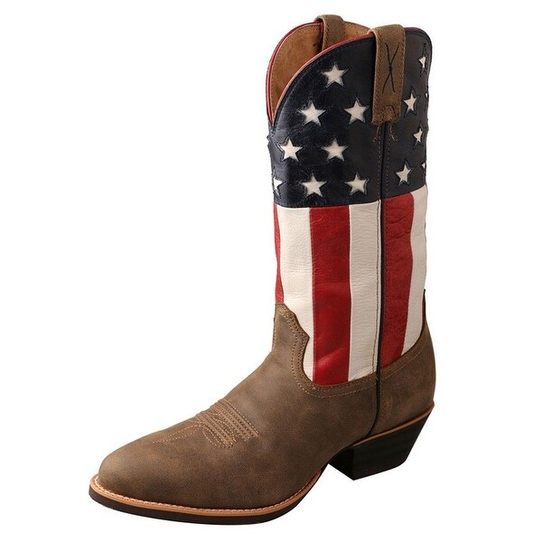 Twisted X Western Boots Mens Patriotic USA Flag Cowboy Bomber