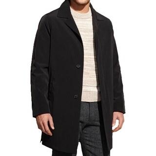 Calvin Klein Mens Raincoat Solid Long Sleeves