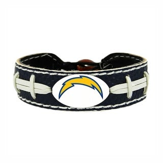 SAN Diego Chargers Team Color NFL Gamewear Leather Football Bracelet