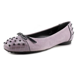 Tod's Dew Ballerina Gommini Round Toe Leather Loafer