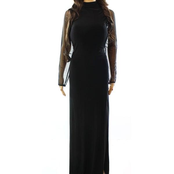 e4c25d511d765 Shop Nightway NEW Black Womens Size 14W Plus Illusion Side-Slit Ball ...