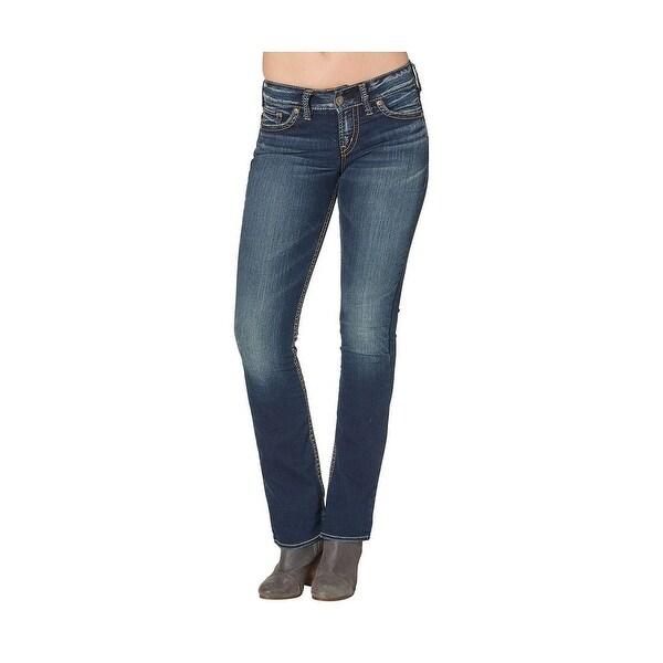 Silver Jeans Denim Womens Suki Slim Bootcut Dark Wash L93616SSF451