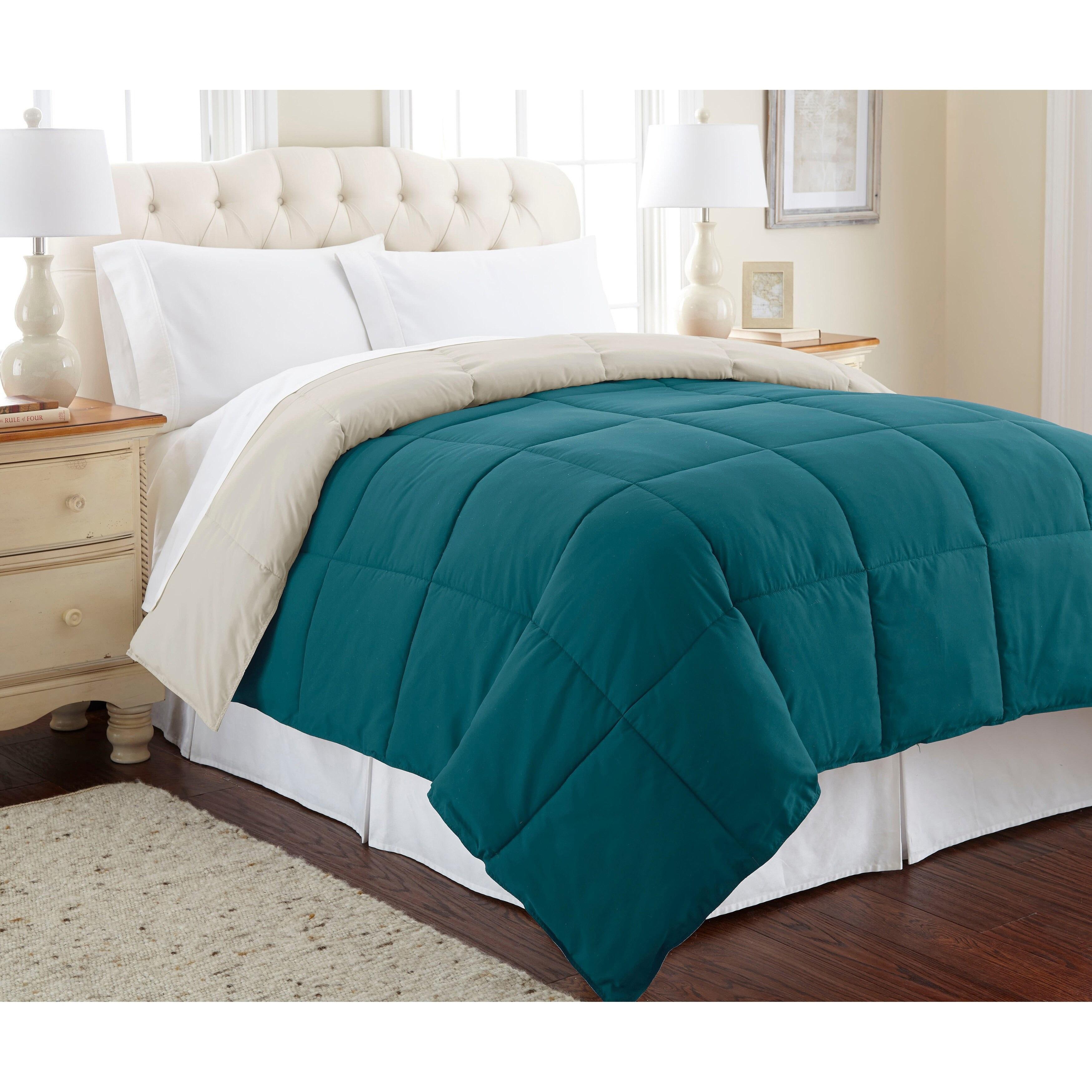 Full//Queen, Grey Devon Bedding Collection Modern Reversible Luxury Ultra Soft Comforter Design for Home Hotel D/écor Refinery29 All Season Premium 4 Piece Set