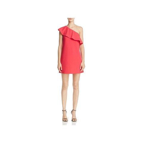 French Connection Womens Ruth Cocktail Dress Ruffled One Shoulder