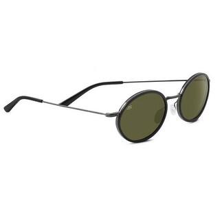 Serengeti Eyewear Sunglasses Sirolo Shiny Black Polar 555nm Lens