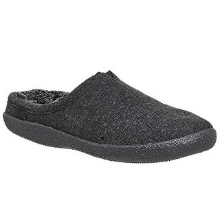 Toms Mens Berkeley Slipper, Adult, Black Herring Woolen