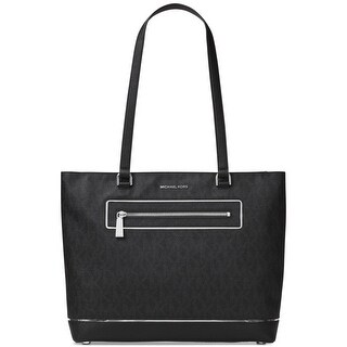 MICHAEL Michael Kors Womens Frame Out Item Tote Handbag Leather Bag - Large