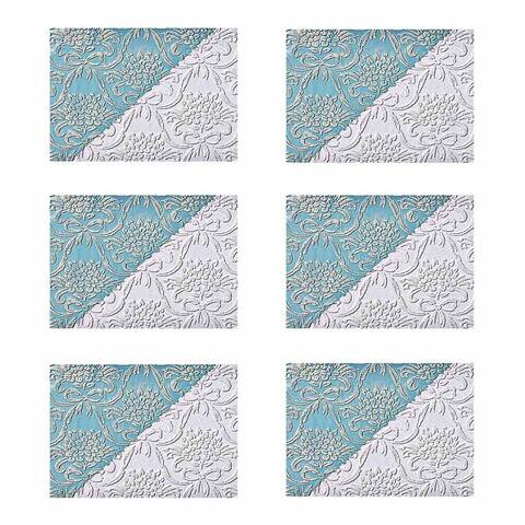 White Wallpaper Vinyl Textured Embossed Wall Covering Kensington Set of 6
