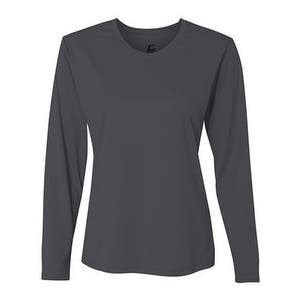 Performance Women's Long Sleeve T-Shirt - Graphite - L